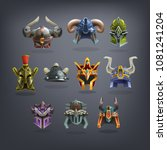 set of fantasy helms armor for...