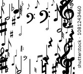 black musical notes on white... | Shutterstock .eps vector #1081243460