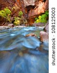 shallow rapids of the virgin... | Shutterstock . vector #108125003
