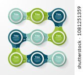 vector infographic template for ... | Shutterstock .eps vector #1081251359
