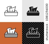 tissue box icon. line style... | Shutterstock .eps vector #1081256030