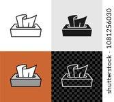 tissue box icon. line style... | Shutterstock .eps vector #1081256030