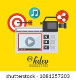 video marketing design    Shutterstock .eps vector #1081257203