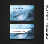 business card template | Shutterstock .eps vector #108125729