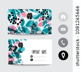 business card template with...   Shutterstock .eps vector #1081265666
