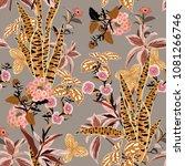 beautiful vintage vector... | Shutterstock .eps vector #1081266746