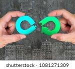 circular economy concept. two...