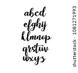 signs of the alphabet.... | Shutterstock .eps vector #1081271993