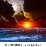 sunset on the indian ocean | Shutterstock . vector #108127634