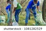 multiracial group of volunteers ...