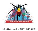 runner finish illustration... | Shutterstock .eps vector #1081283549
