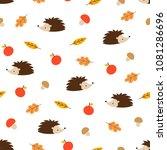 vector seamless pattern of... | Shutterstock .eps vector #1081286696