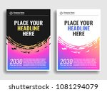 a collection of covers with...   Shutterstock .eps vector #1081294079