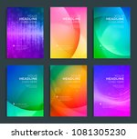 modern abstract annual report ... | Shutterstock .eps vector #1081305230