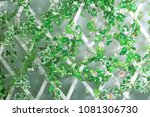 leaves and flowers grid | Shutterstock . vector #1081306730