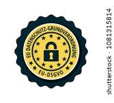 eu dsgvo illustration label | Shutterstock .eps vector #1081315814