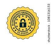 eu dsgvo illustration label | Shutterstock .eps vector #1081316153