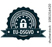eu dsgvo illustration label | Shutterstock .eps vector #1081316420
