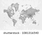 world map with halftone print... | Shutterstock .eps vector #1081316540