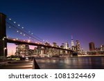 brooklyn bridge and the... | Shutterstock . vector #1081324469
