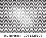 wave halftone engraving black... | Shutterstock . vector #1081325906