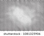 wave halftone engraving black... | Shutterstock . vector #1081325906