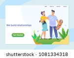 happy young couple enjoying a...   Shutterstock .eps vector #1081334318