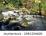 long exposure of a waterfall on ... | Shutterstock . vector #1081334600