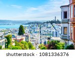 high angle view of san... | Shutterstock . vector #1081336376
