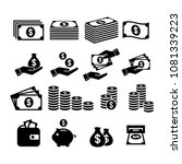 financial icon set. money icons....   Shutterstock .eps vector #1081339223