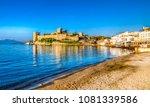 bodrum castle view from beach.... | Shutterstock . vector #1081339586