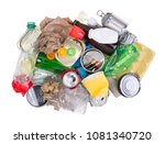 pile of rubbish prepared for... | Shutterstock . vector #1081340720