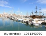 the marina of la grande motte ... | Shutterstock . vector #1081343030
