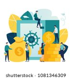 vector flat illustration ... | Shutterstock .eps vector #1081346309
