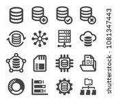 data icon set | Shutterstock .eps vector #1081347443