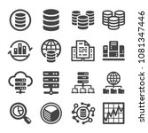bigdata and data analysis icon... | Shutterstock .eps vector #1081347446
