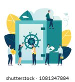 vector flat illustration ... | Shutterstock .eps vector #1081347884