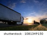 truck transportation on the... | Shutterstock . vector #1081349150