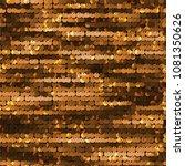 seamless golden shiny sequined... | Shutterstock .eps vector #1081350626