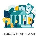 vector flat illustration  bank...   Shutterstock .eps vector #1081351790
