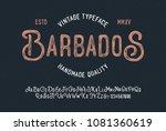 original handmade alphabet.... | Shutterstock .eps vector #1081360619