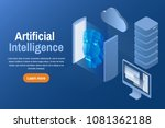 artificial intelligence.... | Shutterstock .eps vector #1081362188