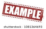 example rubber stamp   Shutterstock .eps vector #1081364693