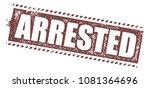 arrested rubber stamp   Shutterstock .eps vector #1081364696