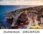 malta  blue grotto. the most...   Shutterstock . vector #1081369220