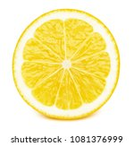 perfectly retouched sliced half ... | Shutterstock . vector #1081376999