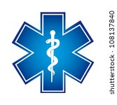 blue medical symbol isolated... | Shutterstock .eps vector #108137840