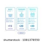 banner for tariffs  pricing... | Shutterstock .eps vector #1081378550