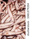 Small photo of Fresh smelt, capelin or caplin fish. Selective focus