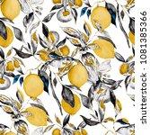 watercolor seamless pattern... | Shutterstock . vector #1081385366